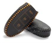 Чехол для смарт ключа Инфинити кожаный 3 кнопки, черный