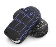 Чехол для смарт ключа Джип кожаный 2 кнопки, черный