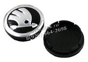 Колпачки в диск Шкода 56/53 мм черные / (кат.5JA601151FOD)