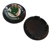 Колпачки в диск Шкода 65/59 мм зеленые