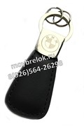 Брелок БМВ для ключей кожаный овальный
