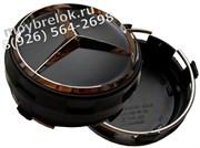 Колпачки в диск Мерседес AMG (75 мм) бочки черные/ (кат.A00040009009283)