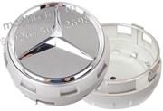 Колпачки в диск Мерседес AMG (75 мм) бочки серые / (кат.A00040009009790 )