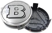 Колпачки в диск Мерседес Brabus (75 мм) хром