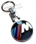 Брелок БМВ M performance для ключей круглый