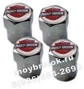 Колпачки на ниппель Харли Дэвидсон (шестигр+цилиндр.-хром) комплект 4шт