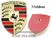 Эмблема Порше 77х58 мм (1 шпилька)