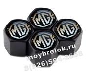 Колпачки на ниппель МГ (черн.фон, шестигр.-черн) комплект 4шт