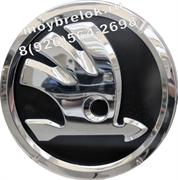 Эмблема Шкода 82 мм черная (рестайл)