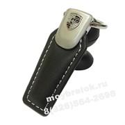 Брелок Порше для ключей кожаный (q-type), выпуклая эмблема