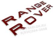 Эмблема Рэнж Ровер красн. (багажник / капот)