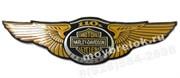 Эмблема Харли Дэвидсон желтая 123х33 мм