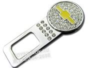 Заглушки Шевроле ремня безопасности (кристалл), набор 2шт в коробке