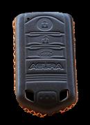 Чехол для смарт ключа Акура мягкая натуральная кожа, коричневый