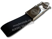 Брелок Вольво для ключей кожаный прямоугольный