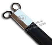 Брелок БМВ для ключей кожаный черный