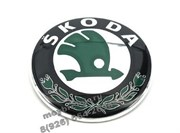 Эмблема Шкода 90 мм зеленая